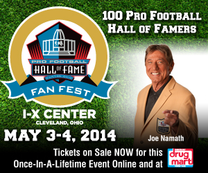 Pro Football Hall of Fame Fan Fest at the Cleveland I-X Center May 3-4, 2014