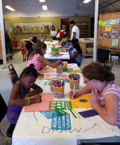 Art House Inc offers free family art classes every third Saturday.