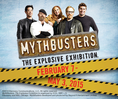 Mythbusters: The Explosive Exhibit - February 7 - May 3, 2015 at the Cleveland Great Lakes Science Center